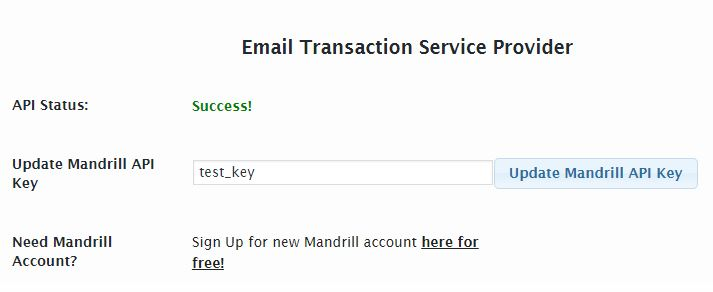 add mandrill auth key