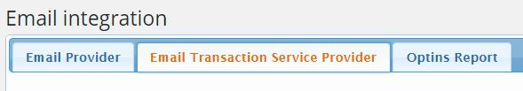 email transaction service provider tab