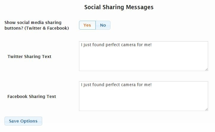 Quiz Social Sharing Options